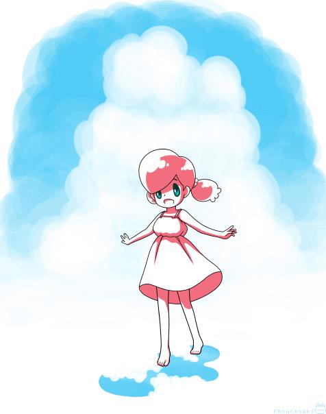 イチゴちゃんと入道雲